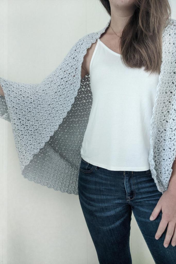 The blanket shrug crochet free pattern