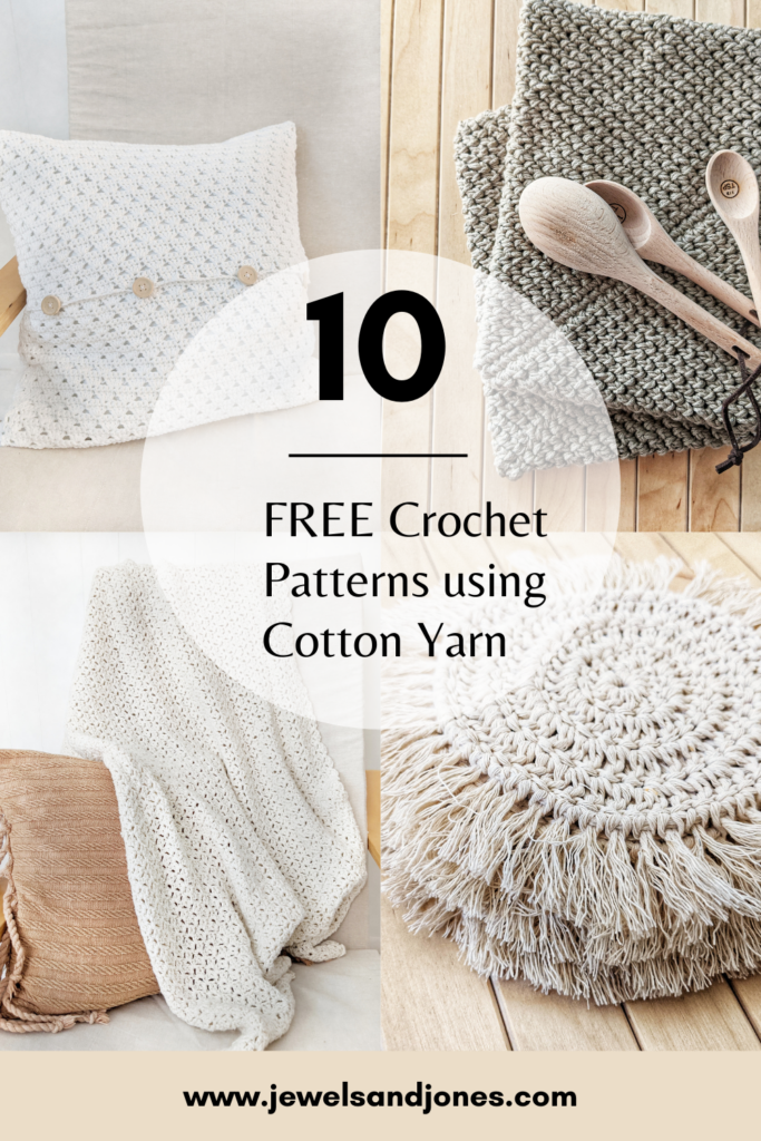free crochet patterns made with cotton yarn