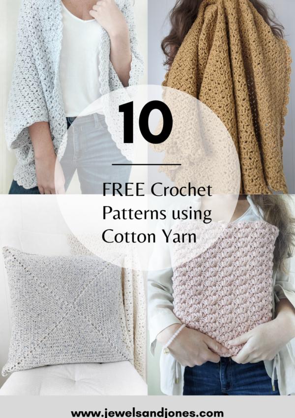 free crochet patterns using cotton yarn