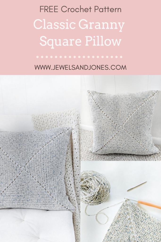 Classic Granny Square Pillow Patter - Free Crochet Pattern