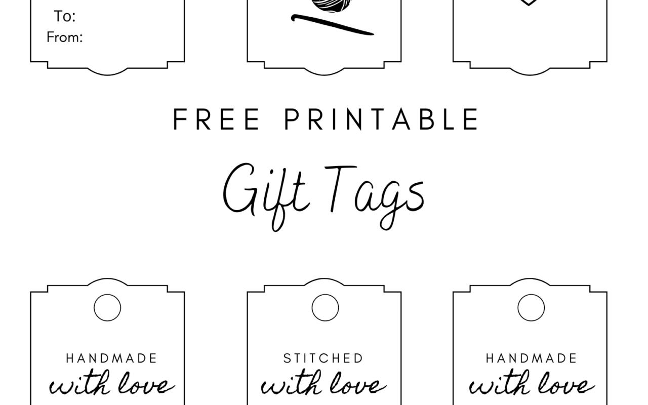 free crochet printable gift tags
