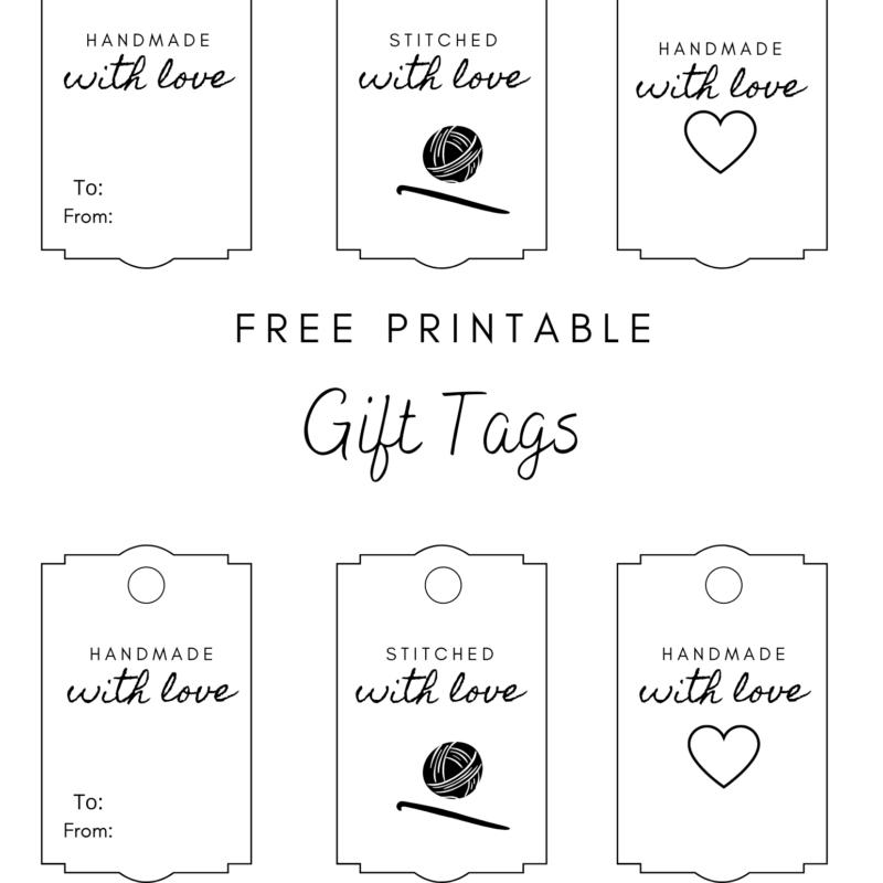 Crochet Gift Tags – Free Printable
