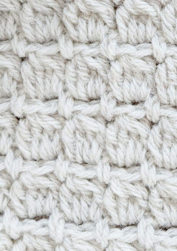 double crochet cluster stitch tutorial