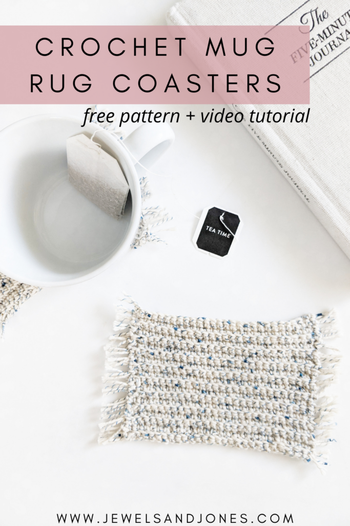 Crochet Mug Rug Coasters Free Pattern And Video Tutorial Jewels And Jones