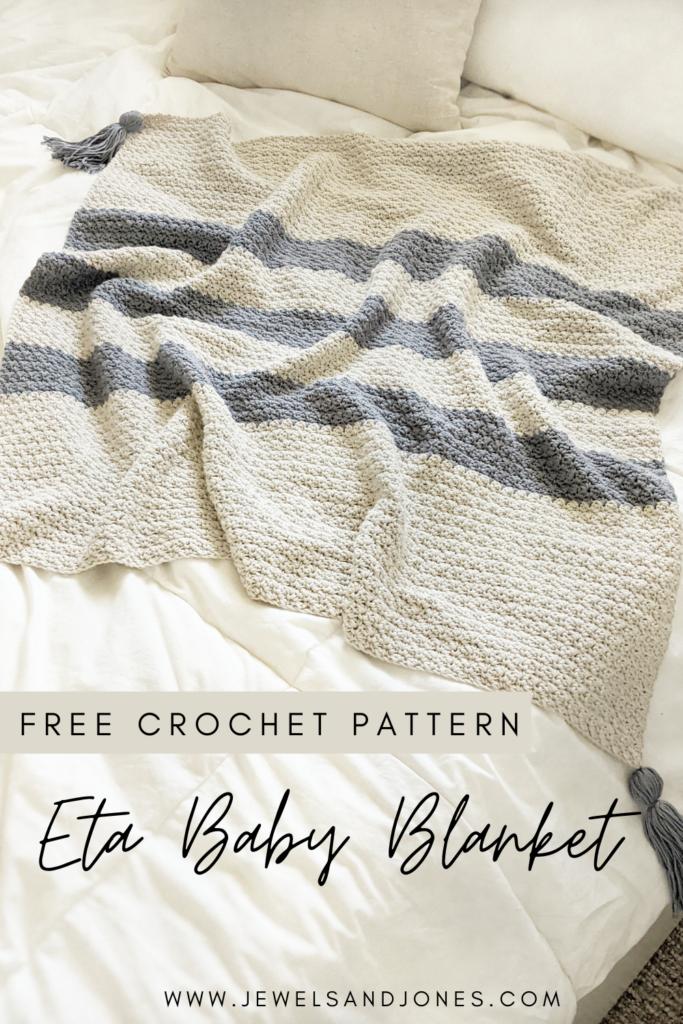 Eta Crochet Baby Blanket - Free Crochet Pattern