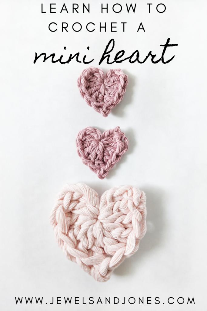 learn how to crochet a mini heart