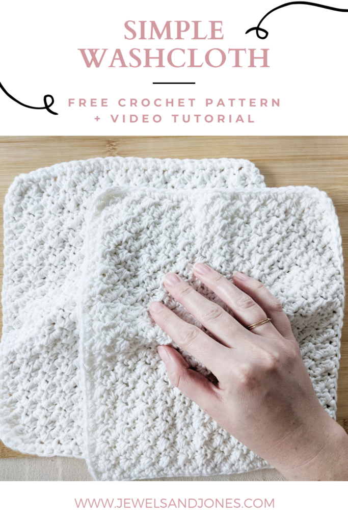 crochet cotton washcloth free pattern