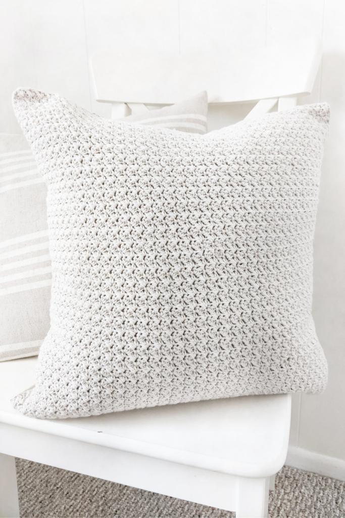 Simple Crochet Farmhouse Style Pillow Pattern