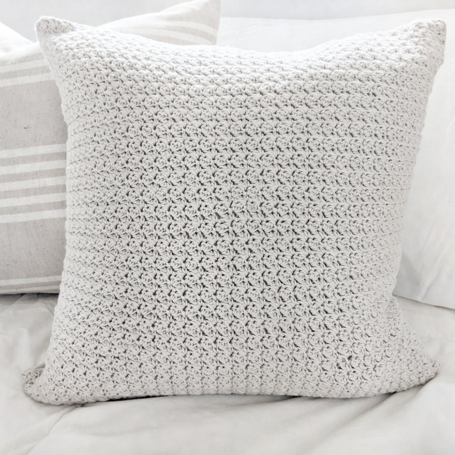 How to make a simple farmhouse style crochet pillow