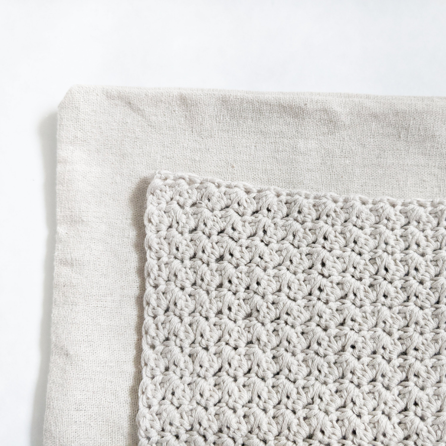 How to sew your crochet cover on your pillow cover