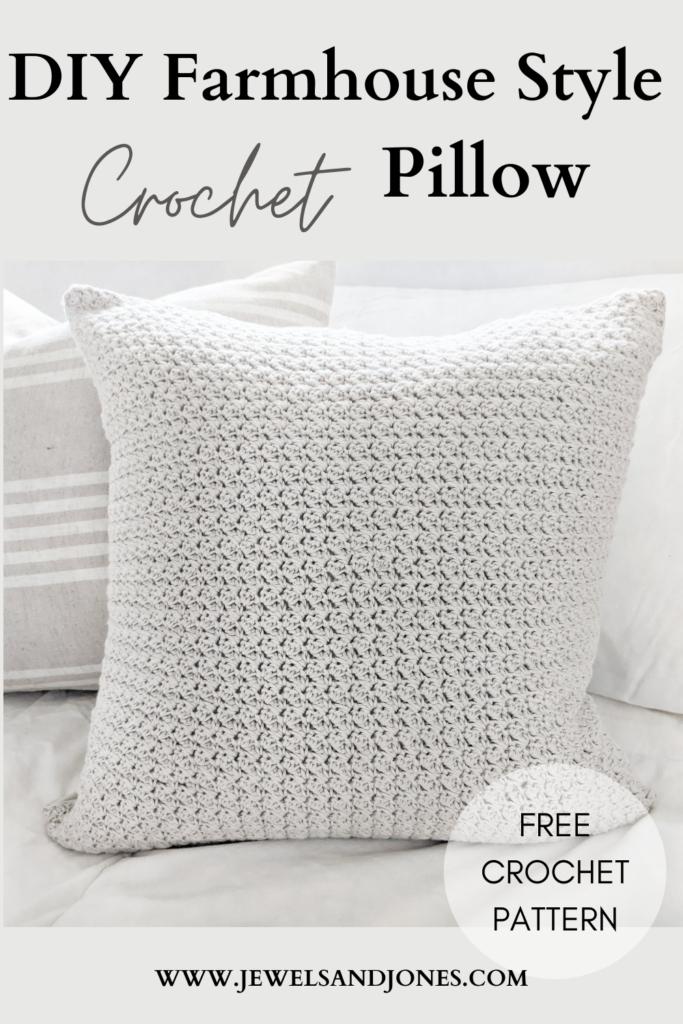 Simple Farmhouse Style Crochet Pillow Free Pattern