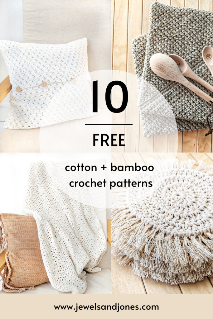 crochet home decor cotton + bamboo patterns to make