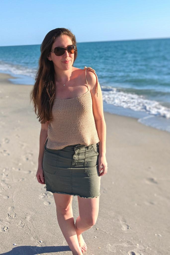 crochet seaside tank top, free crochet summer tank top