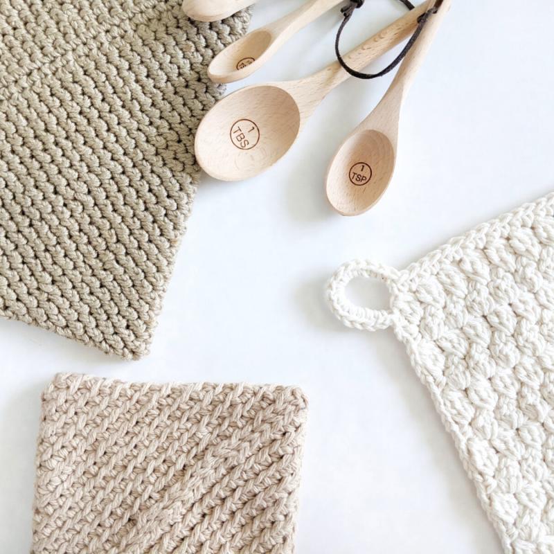 FREE Home Decor Cotton + Bamboo Yarn Crochet Patterns to Make