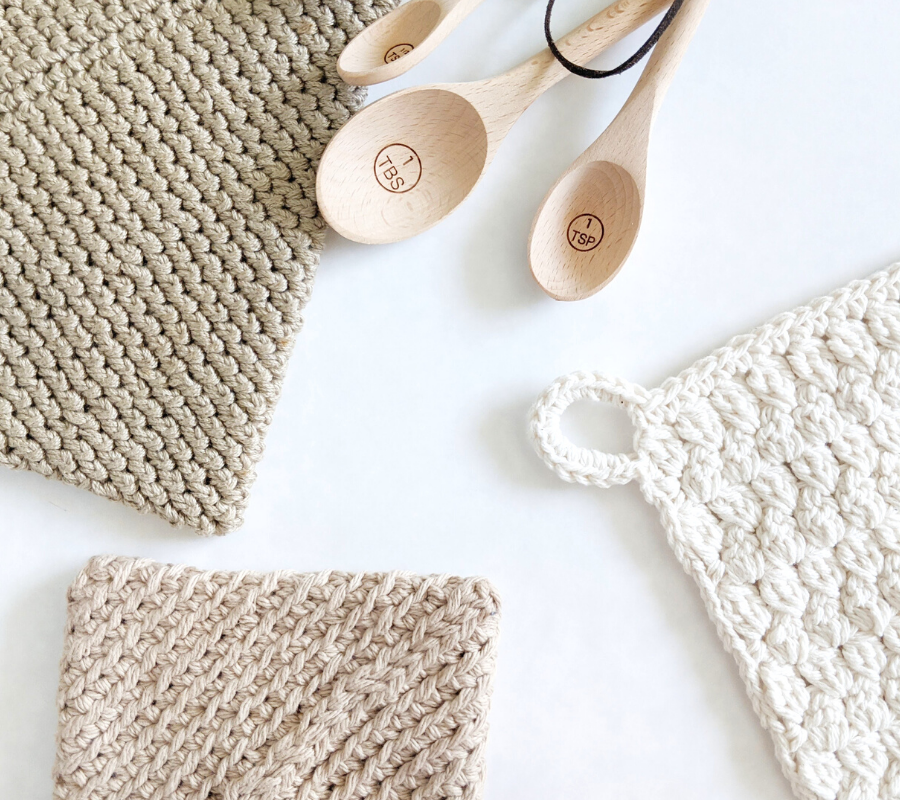 crochet cotton + bamboo patterns for the home