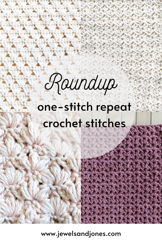 5 easy one-repeat crochet stitch patterns, free crochet stitch patterns