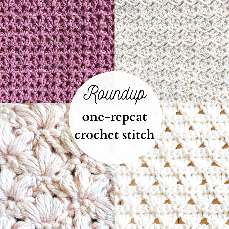 5 easy one-repeat crochet stitches to make for patterns