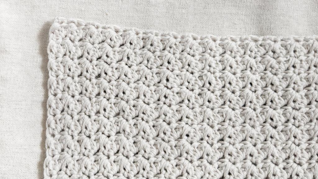suzette stitch, easy one repeat crochet stitch