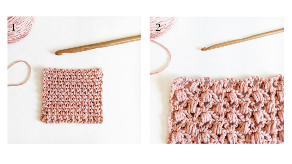 crochet granite stitch, crochet puff stitch tutorials