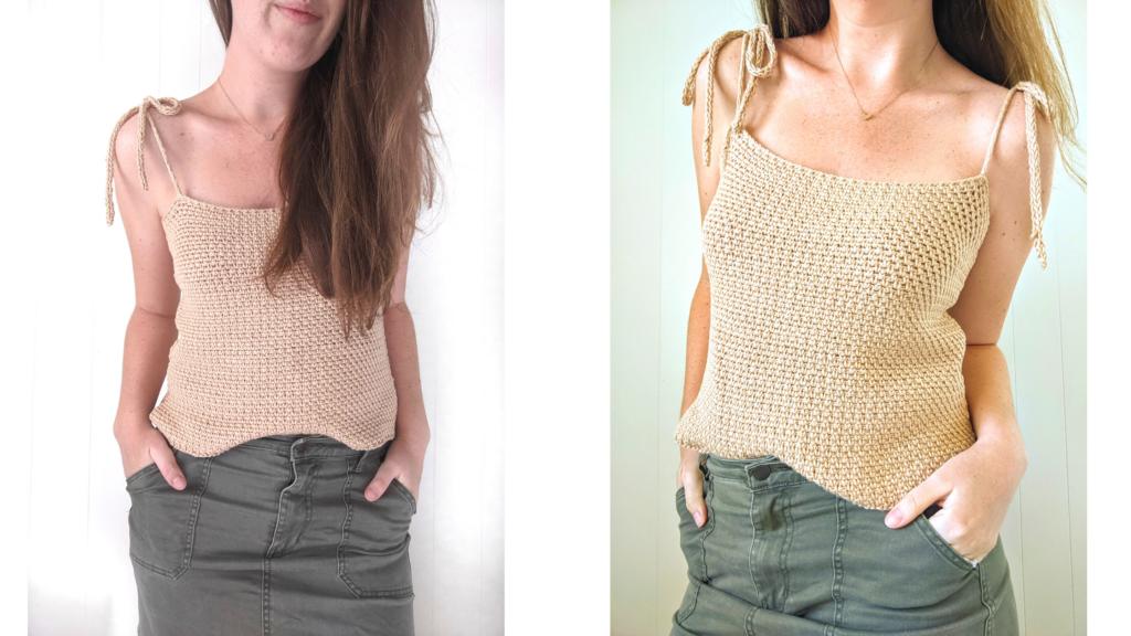 Crochet Seaside Tank Top Free Pattern
