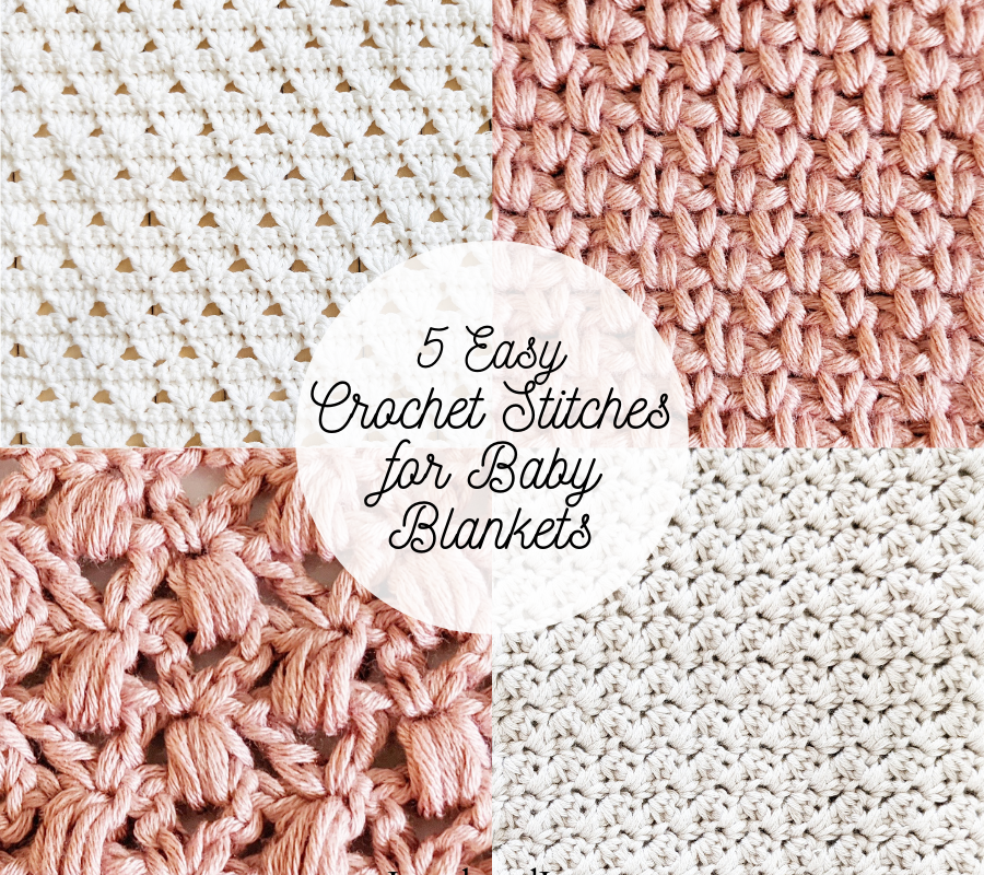 5 prettiest crochet stitches for baby blankets