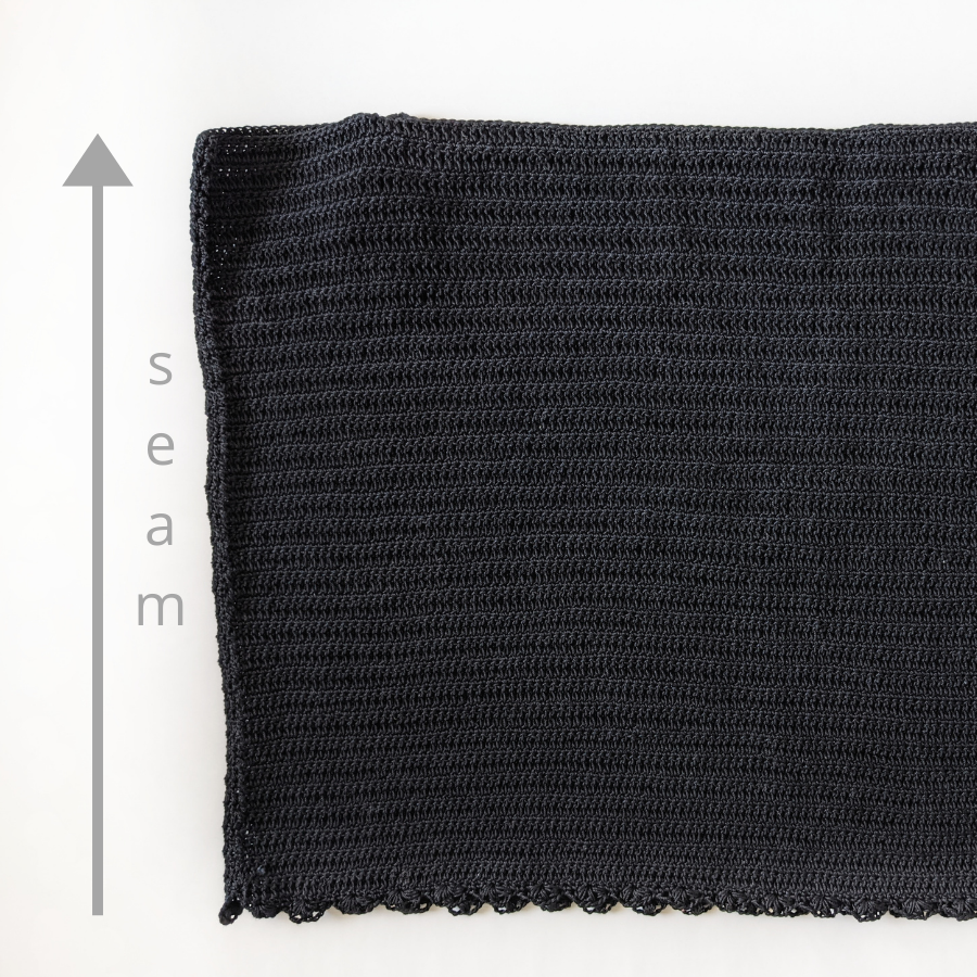 lace tank top front + back panel seaming method
