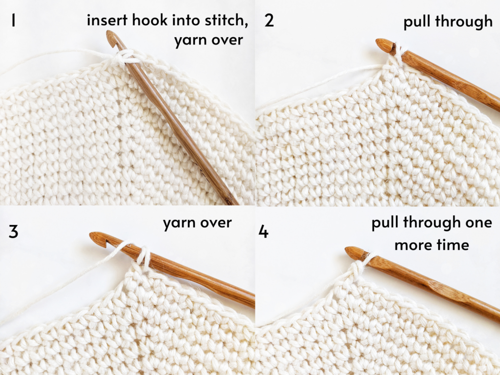 guided photo tutorial on how to single crochet backwards