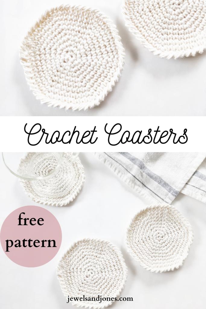 beginner friendly free crochet spiral coaster pattern