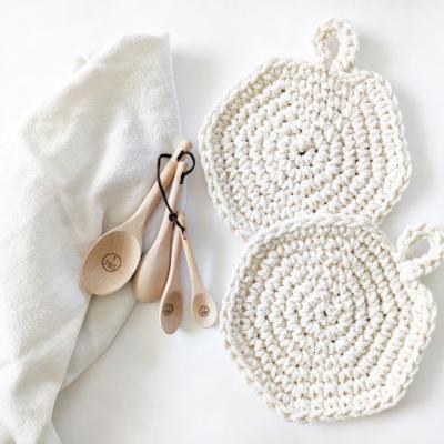 cotton crochet spiral hot pads beginner-friendly free crochet pattern