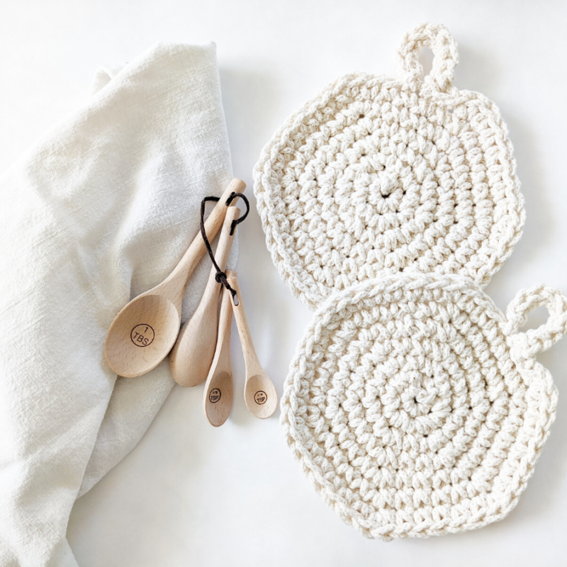 Crochet Spiral Hot Pads – Double Thick –  Free Pattern