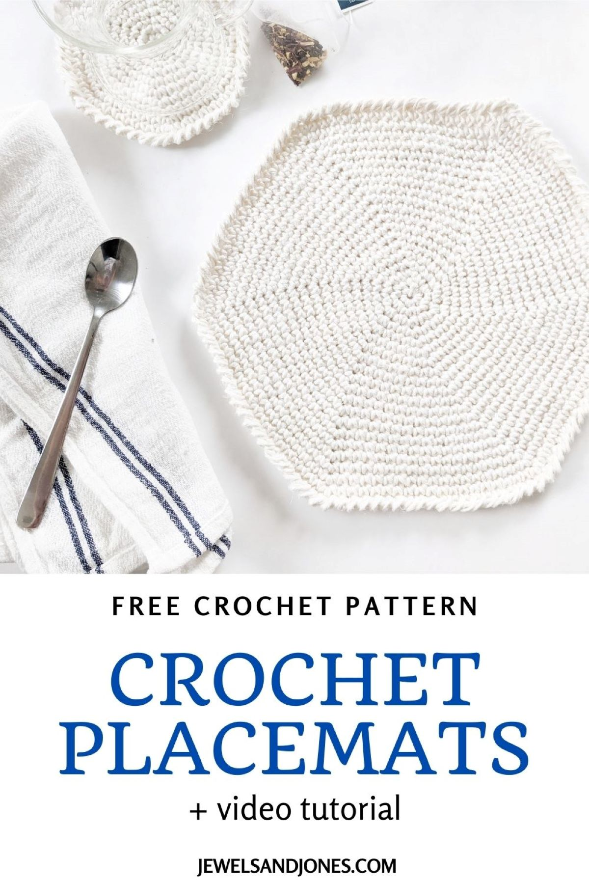 a picture to pin of the crochet placemat pattern