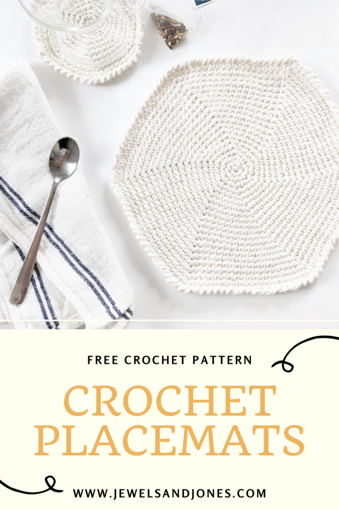 Learn how to crochet a beginner-friendly free crochet round placemat pattern, easy crochet round placemat tutorial