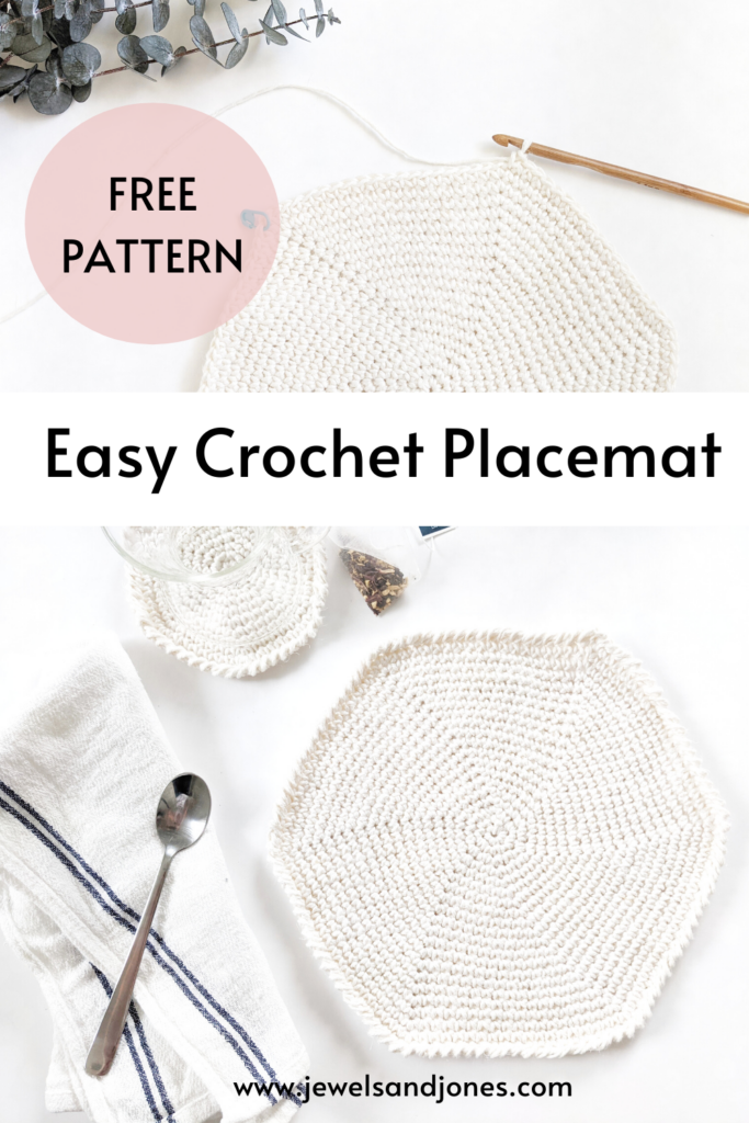 Learn how to crochet a beginner friendly free crochet round placemat pattern
