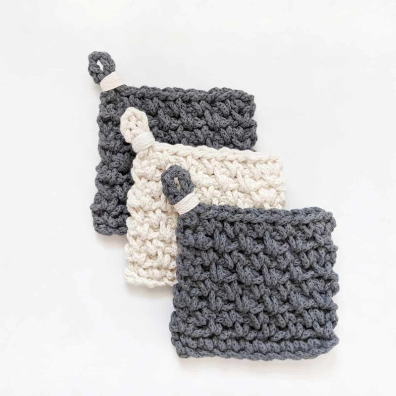 Modern Chunky Crochet Coasters – Free Pattern