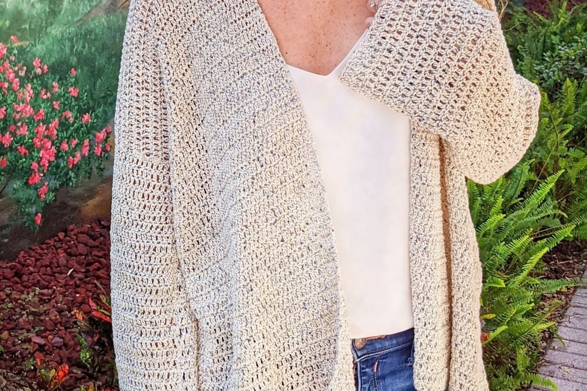 free beginner crochet cardigan pattern