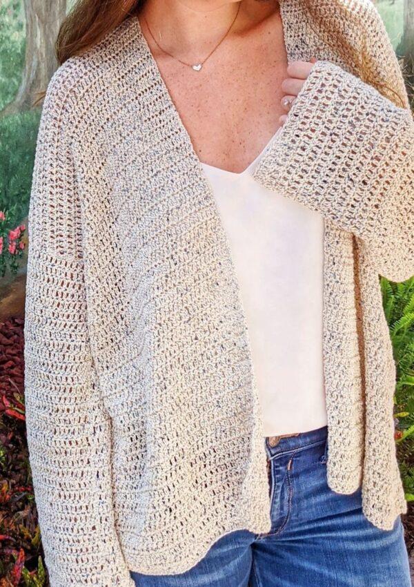 How to Crochet an Easy Beginner Crochet Cardigan – Free Pattern