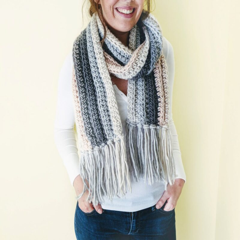 How to Crochet a Chunky Scarf for Beginners – Free Pattern