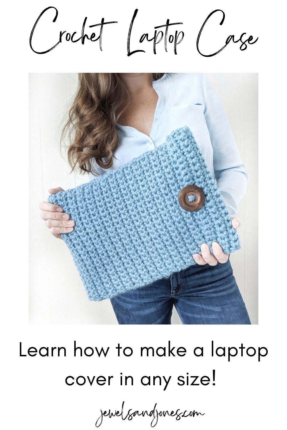 Learn how to crochet a laptop in any size