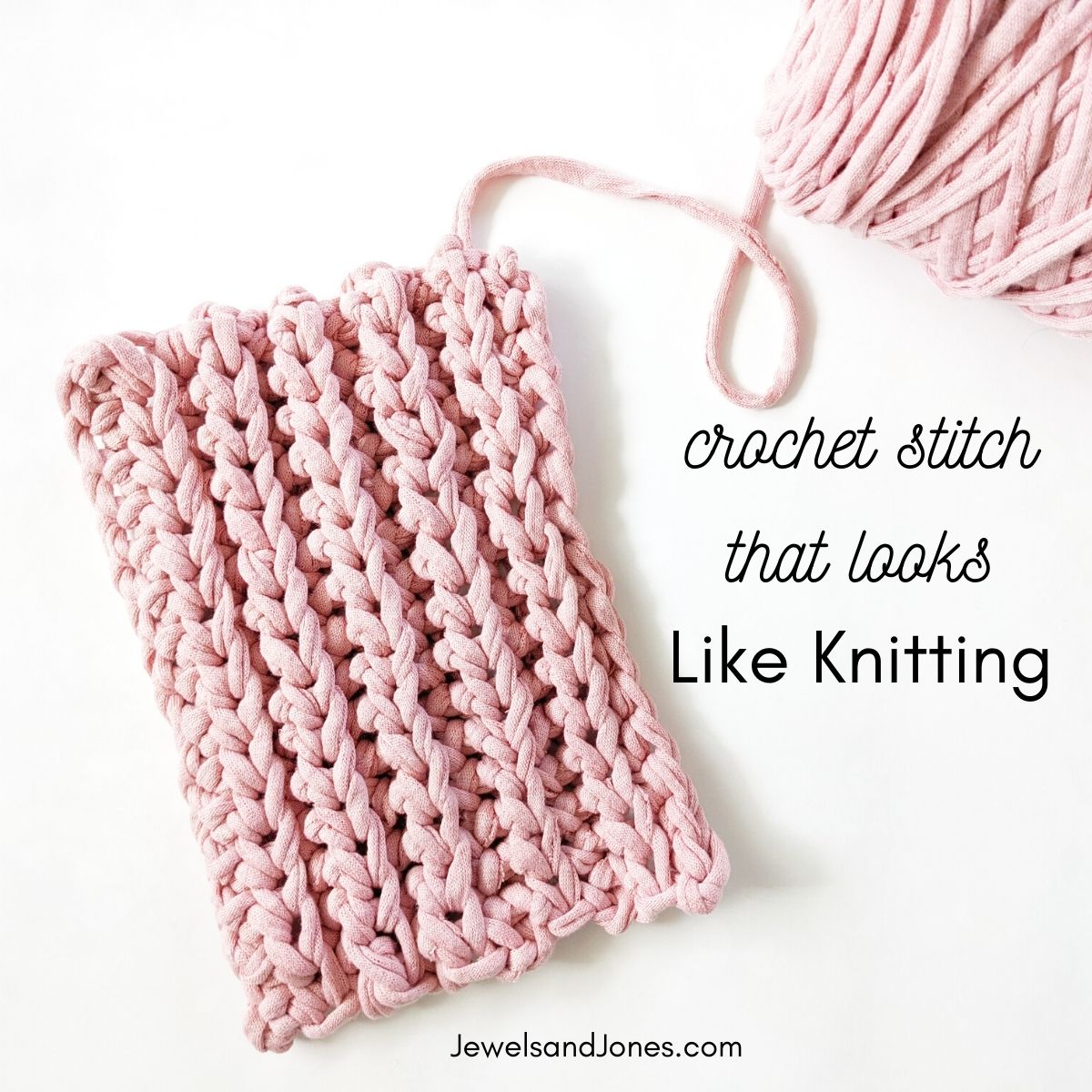 How to crochet a stitch that looks like knitting
