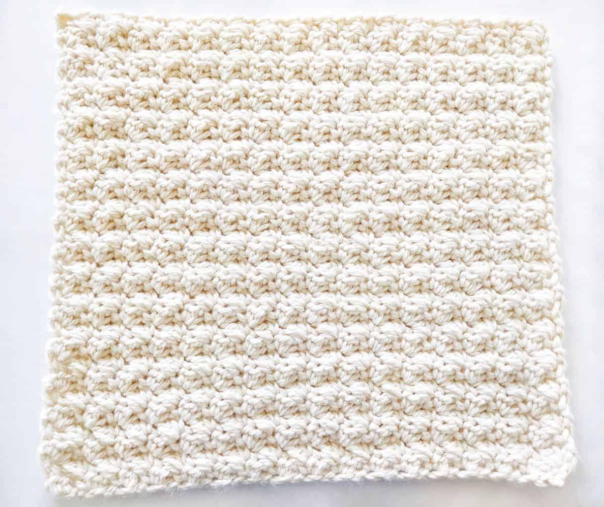 crochet pillow cover panel
