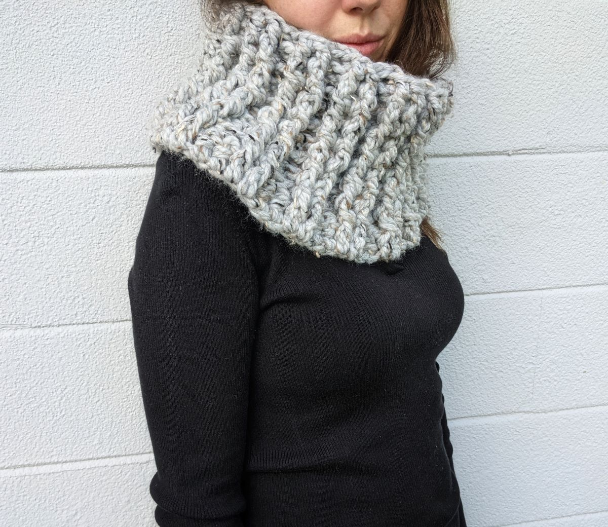 super bulky weight cowl pattern
