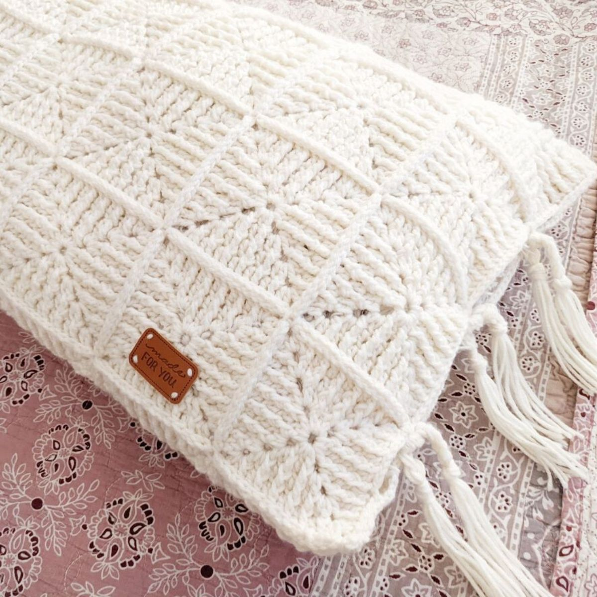 How to Crochet a Body Pillow with Granny Squares