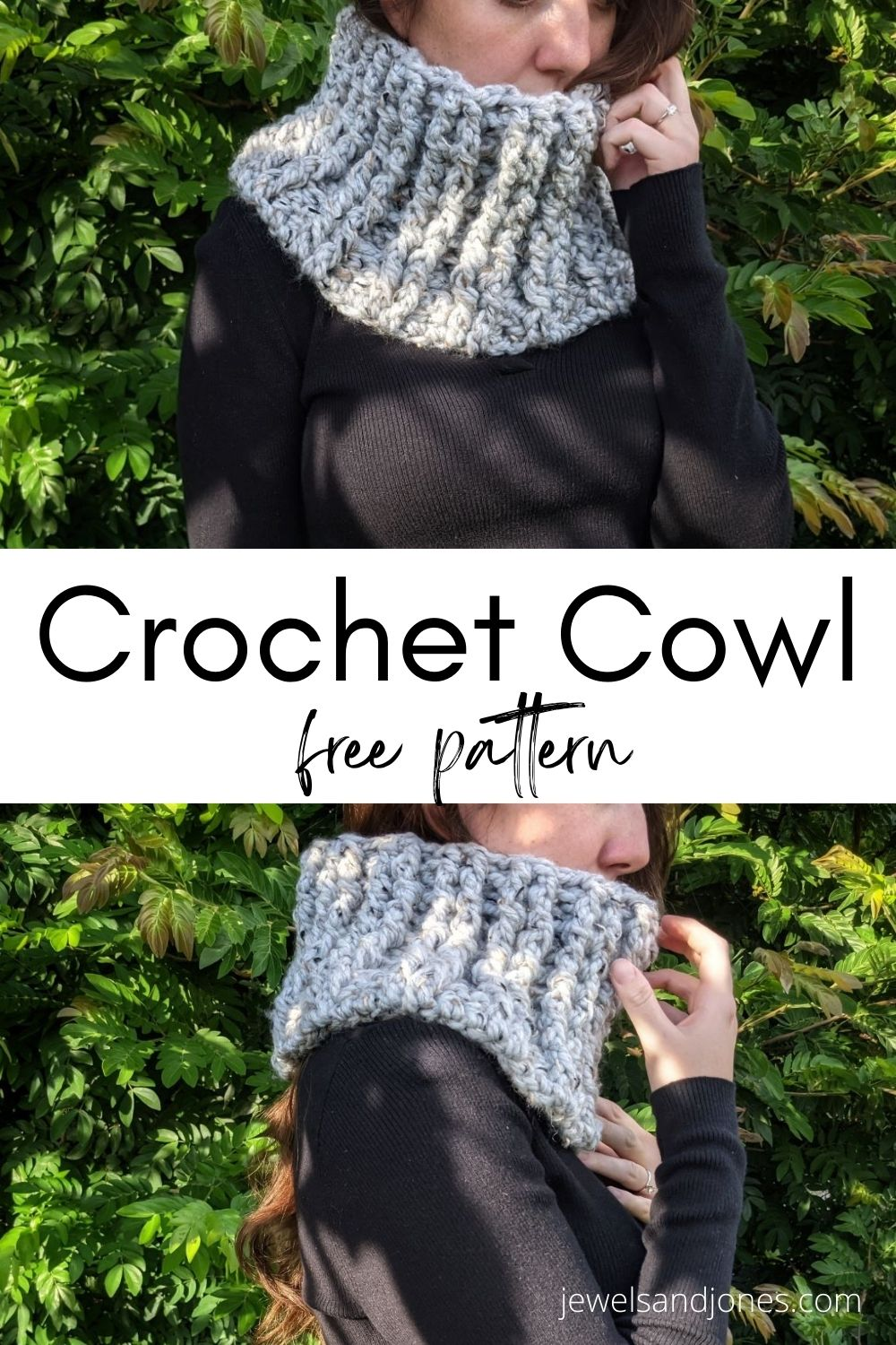 learn how to crochet a cowl with this free crochet pattern