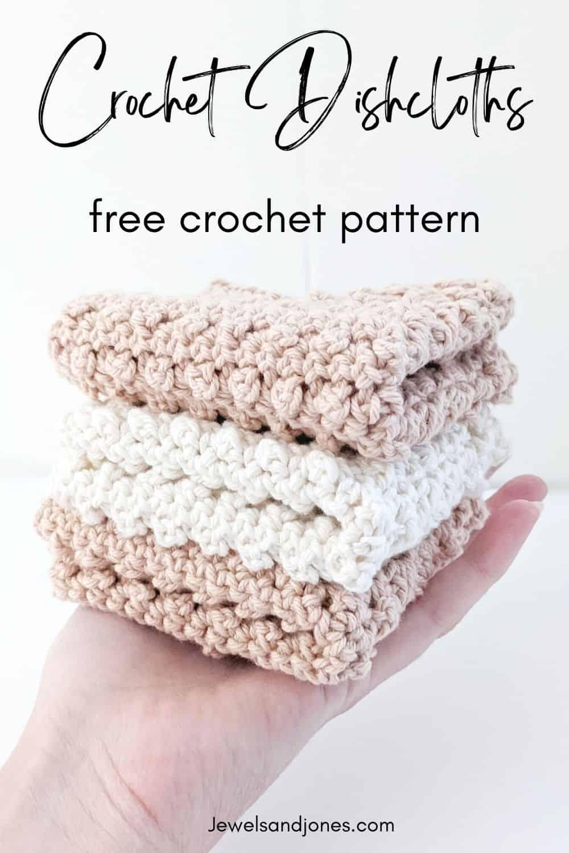 Pinnable Rustic Cotton Crochet Dishcloth Pattern