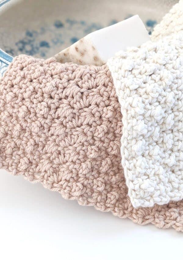 Free Rustic Cotton Crochet Dishcloth Pattern