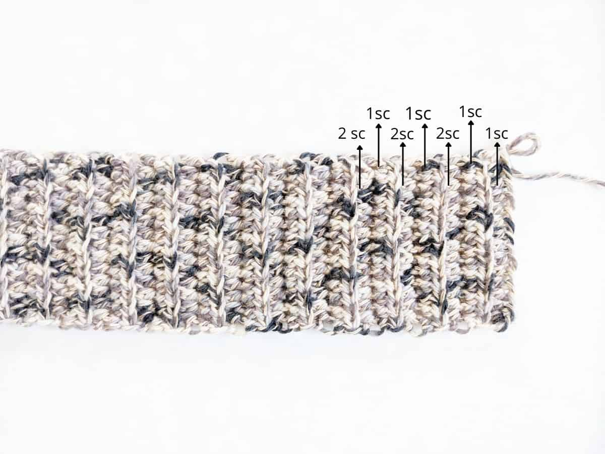 how to crochet a slouchy beanie part 2