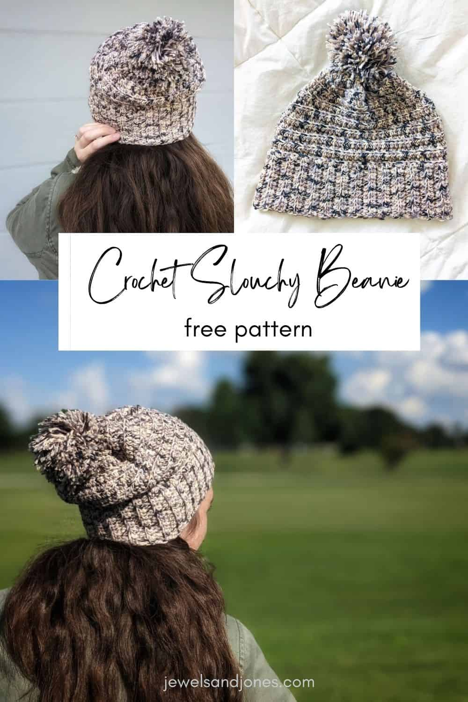simple crochet cotton beanie pattern